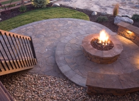 Houston Patio Outdoor Fireplace / Firepit Image 11