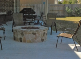 Houston Patio Outdoor Fireplace / Firepit Image 12