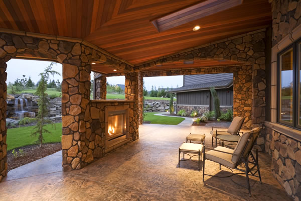 Houston Patio Outdoor Fireplace / Firepit Image 2