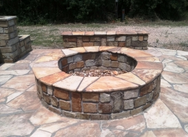 Houston Patio Outdoor Fireplace / Firepit Image 1