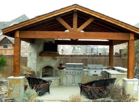 Houston Patio Outdoor Fireplace / Firepit Image 4
