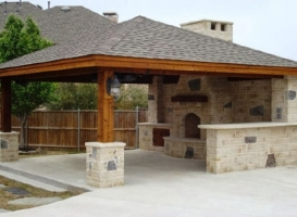 Houston Patio Outdoor Fireplace / Firepit Image 5